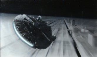 Millennium Falcon at the Battle of Yavin