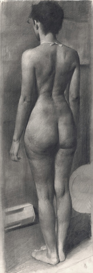 Standing Female Nude (back)