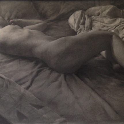 Untitled (Reclining Female Nude with African Mask)